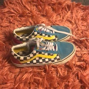 Multicolored old skool vans